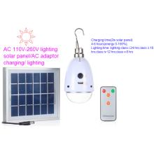 5 bombilla de luz portátil solar de la lámpara de la clase de la iluminación