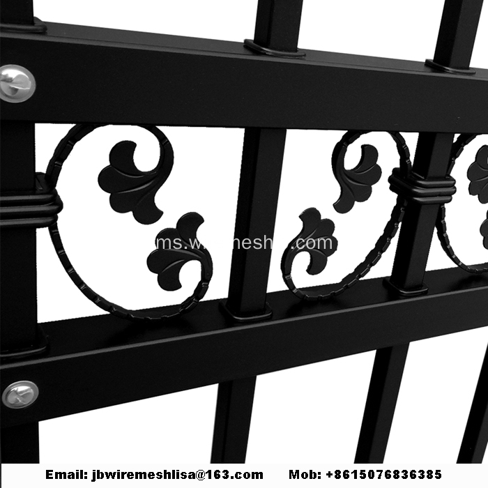 Black Color Zinc Steel Pagar besi pagar