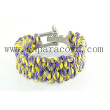 yellow and purple camo adjustable buckle bracelet