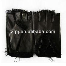Motor Driving guantes de encaje medio dedo medio para las mujeres