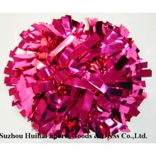 Металлические розовые Помпоны