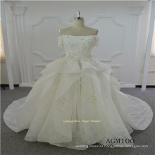 Short Sleeve Lace New Model Wedding Dress