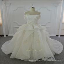 Manga curta rendas vestido de noiva novo modelo