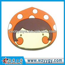 Promotional 3D Soft Rubber Mirror, Cute Pvc Charm