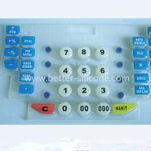Commutateur en caoutchouc en silicone personnalisé avec traitement de surface époxydique