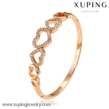 51139 Xuping New Summer Brass Bijoux Brillant Crystal Bangle