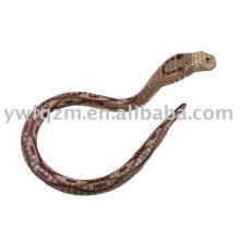 serpiente de juguete realista de madera