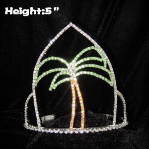 Crystal Summer Plam Tree Pageant Coronas