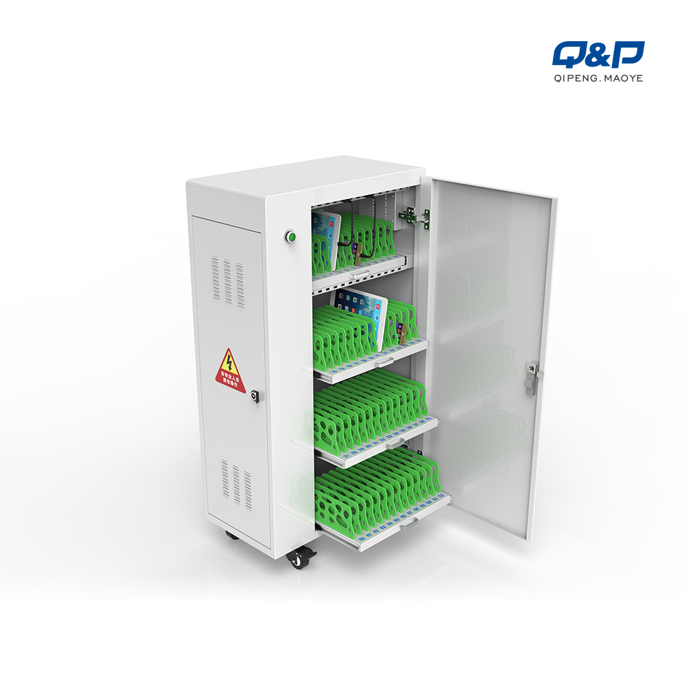 52 port tablets cart cart with locker