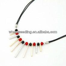 Taobao best-seller bijoux dernier design gros perles de mode Colliers en alliage