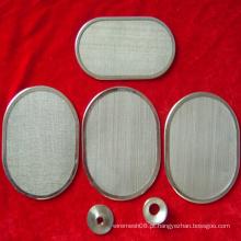 Disco de filtro sinterizado de cinco camadas