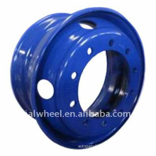 Blue Tubeless Truck Steel Wheel Rims of 22.5x6.75