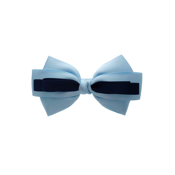 double blue and black bow