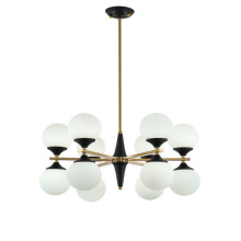 New Design Modern Style Dimmable Glass Ceiling Chandelier For Living Room