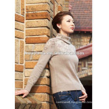 Fashion turtleneck cashmere knitting ladies' sweater