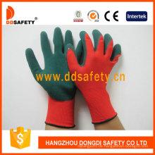 Rotes Nylon mit grünem Nitril-Handschuh Dnn453