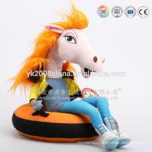 plush and stuffed custom animal horse ,large plush horse,hobbyhorse toys