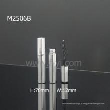 Personalizada Silvery Empty Mini Mascara Embalagem Luxo