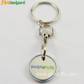 Trolley Coin Key Chain With Embossed Logo