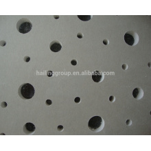 Panneau de gypse perforé de taille standard / fabricant de panneau de plâtre