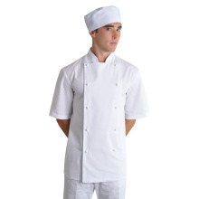 Poly/cotton short sleeve chef top