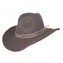2017 nuevo vaquero de moda sombrero de fieltro con la correa personalizada (cw0010)