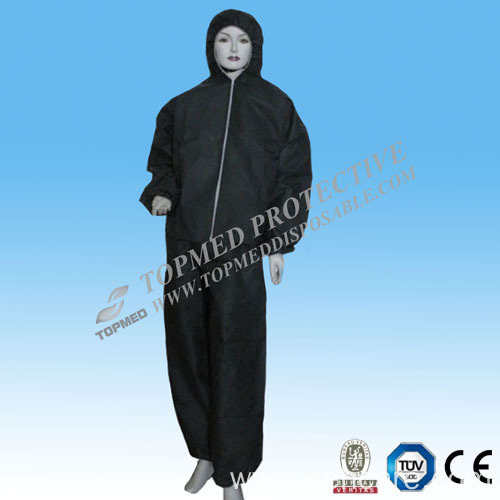 Non-Woven One Time Use Coverall with Hood