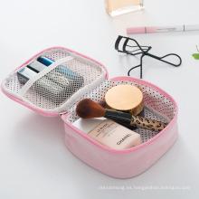 Viaje portátil logo impreso personalizado bolsa de cosméticos