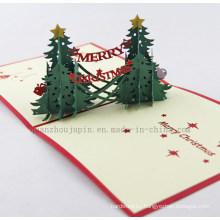 OEM 3D Handmade Pop up Greeting Christmas Wedding Card