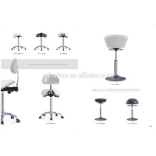 Comfortable and elegant stool with specially shaped backrest