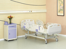 ABS plastic bedside rails with metal hospital bed