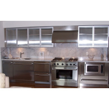 Island Style Stainless Steel Kitchen Cabinets (pole-002)