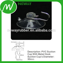 OEM & ODM PVC Glass 30mm Sucção Cup Hook