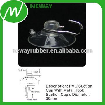 OEM y ODM Cristal de PVC 30mm Gancho de la taza de la succión