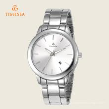Pulseira de relógio de pulso analógico de aço inoxidável de quartzo de mulheres de moda 71094