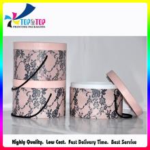 Caisse de cylindre de cadeau parfum élégant avec style de poignée