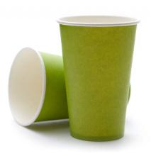 Cold Beverage Taza de papel de pared simple con logotipo impreso