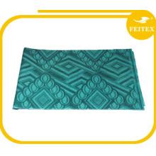 Materiales africanos de la ropa 5 yardas / bolso Jacquard Buena calidad Tela hecha punto 100% algodón Hecho a mano tela africana Guinea Brocade