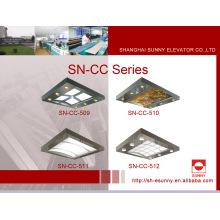 Techo de la cabina del elevador con marco de acero inoxidable (SN-CC-509)