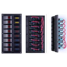 Painel marinho do interruptor de balancim do interruptor de balancim do caminhão dos grupos da luz vermelha 8