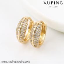 92051-Xuping Nouvelle année charme boucles d'oreilles en or 18 carats