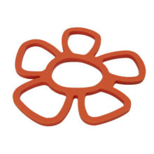 Flower-shaped Silicone Rubber Table Pot Mat, Dishwasher Safe