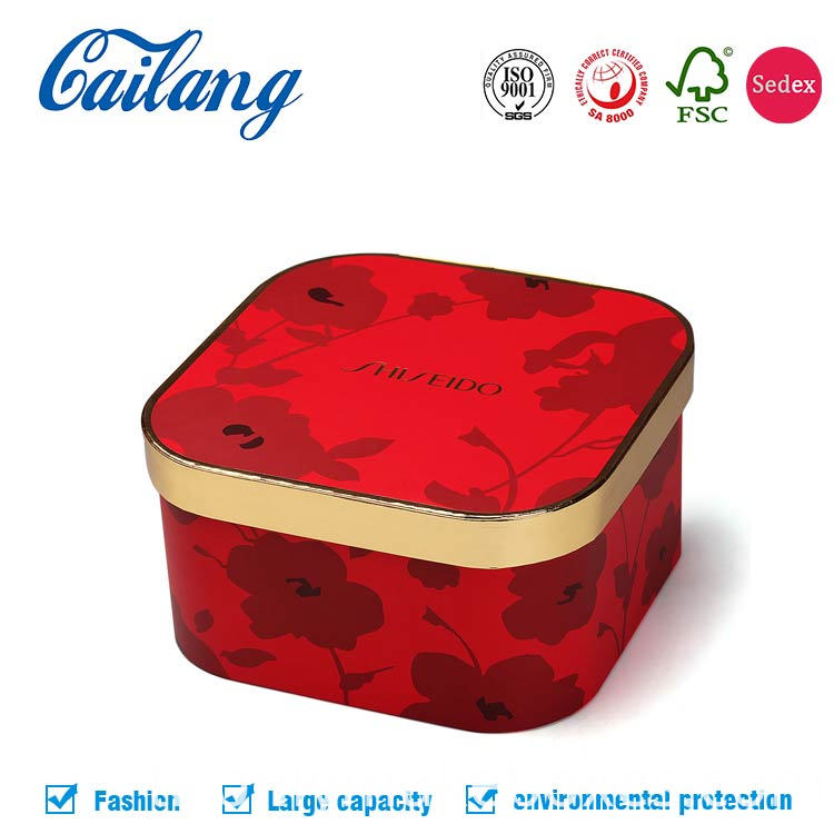 Top class red holiday gold paper cosmetics packaging