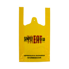 Two-sided Yellow Medium Size Plastic Vest Bag