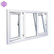 duas vias de abertura de inclinação de alumínio e vire janelas