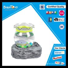 Simulação mini brinquedo peixes aquário