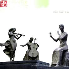 2016 Novo Bronze Figura Escultura Para Jardim O Tema Da Música