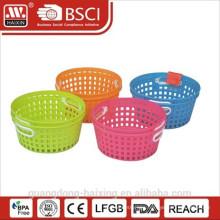 Round plastic utility basket 2PCS
