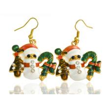 Jóias de natal / brinco de natal / boneco de neve de natal (xer13376)