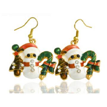 Рождественские украшения/Рождественские серьги/Рождественский Снеговик (XER13376)